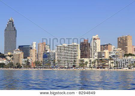 Benidorm Alicante Privince Beach From Sea