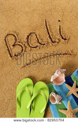 Bali Beach Writing
