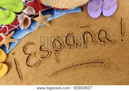 Spain Beach Writing