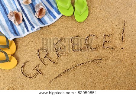 Greece Beach Background