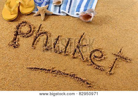 Phuket Beach Writing