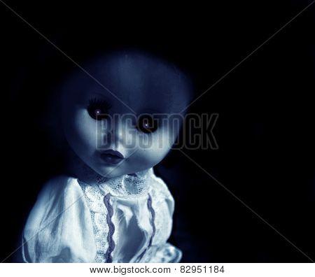 Vintage evil spooky doll