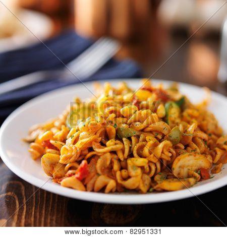pine nut vegan pasta on plate