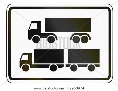 Lorries With Trailer And Hgvs