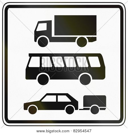 Lorries, Buses And Cars With Trailer Only