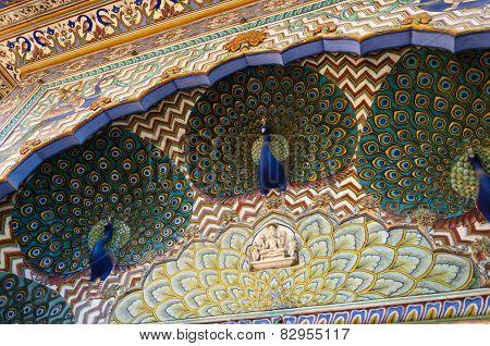 Peacock Gate At The Chandra Mahal, Jaipur City Palace