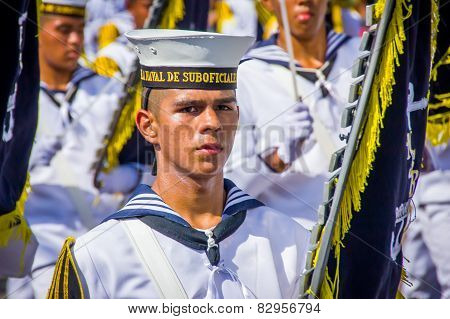 Naval academy students participate in Colombia's most important folklore celebration, the Carnival o