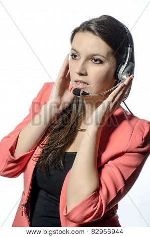 Operator With Headset