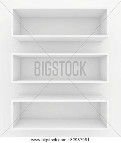 bookshelf. 3d render on white background