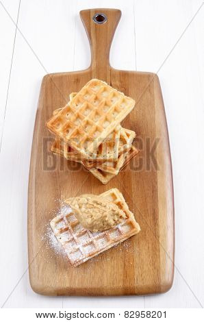 Waffle With Crunchy Peanut Butter