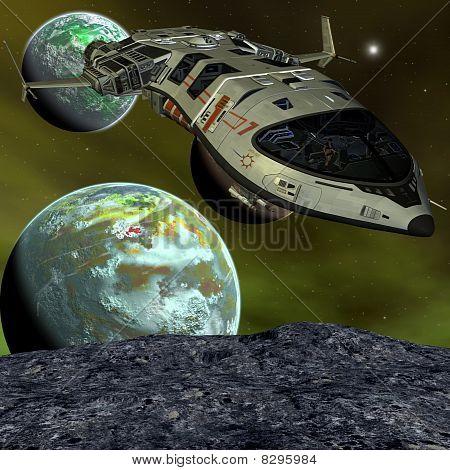 Nave espacial futurista
