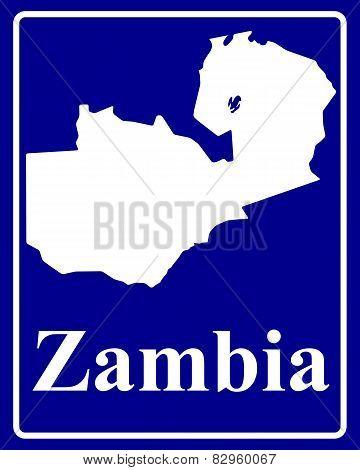 Silhouette Map Of Zambia