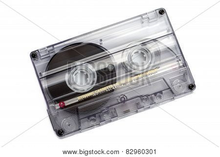 Close Up Of Vintage Audio Tape Cassette