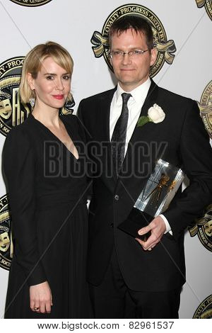 LOS ANGELES - FEB 15:  Sarah Paulson, Jonathan Freeman at the 2015 American Society of Cinematographers Awards at a Century Plaza Hotel on February 15, 2015 in Century City, CA