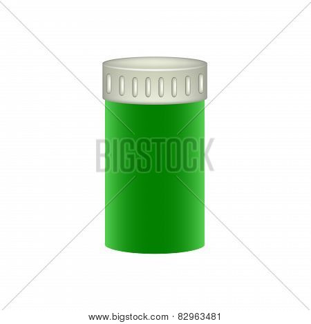 Medical container in green design