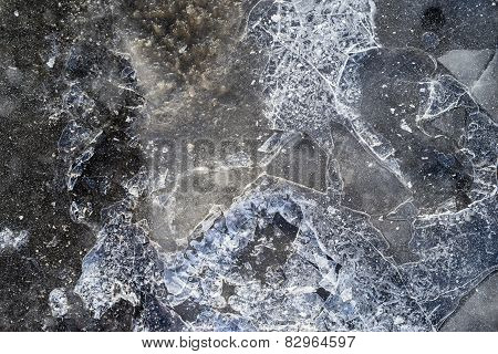 Glossy Surface Of Ice