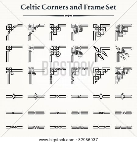 Set Of Celtic Corners And Frames