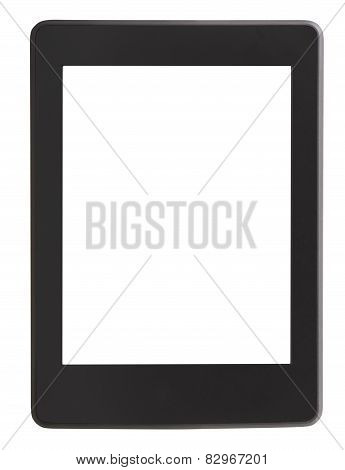 Front View Of E-book Reader With Cut Out Screen