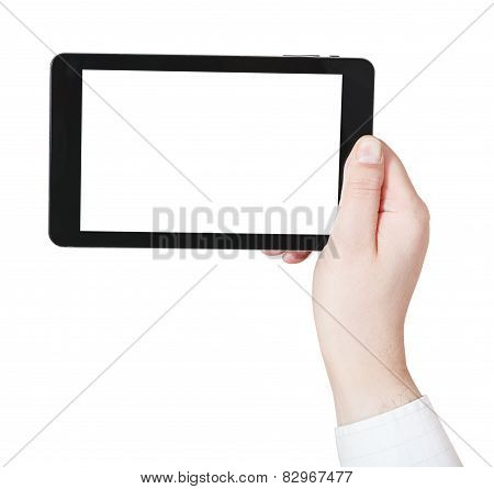 Businessman Hand Holding Tablet-pc