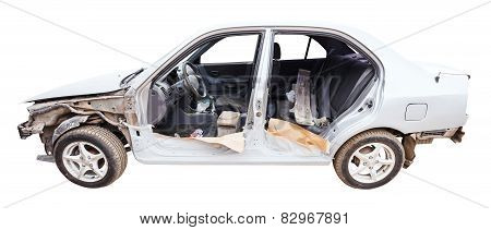 Disassembled For Painting Car Isolated On White