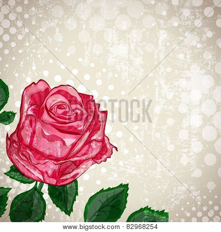 Vintage Abstract Rose Flower Background