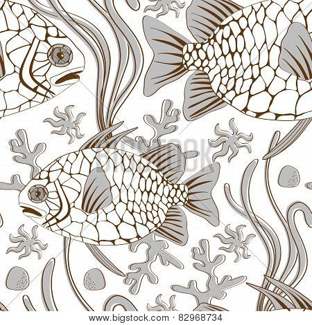 pinecone fish pattern
