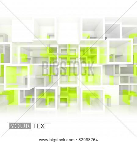 3D Design Background, Chaotic Cells Structure
