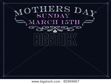 Mothers Day On  Srached Chalkboard