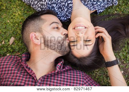 Cute Couple Kissing Each Other