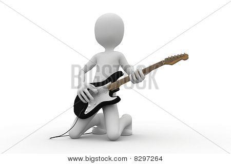 3d man rocking