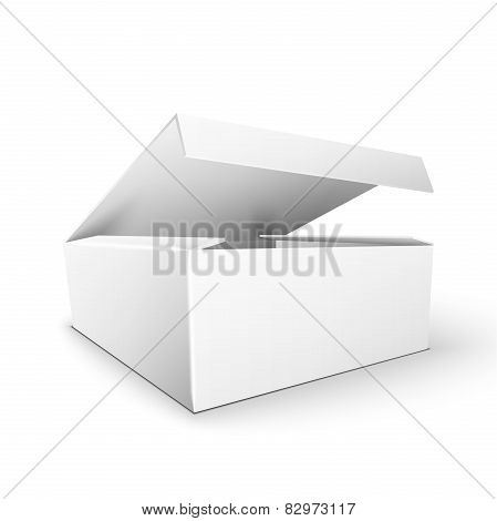 White Product Package Box Mock Up Template