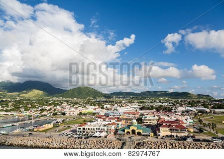 Colorful Port At St Kitts