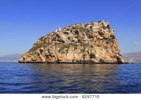 Benidorm Island North Blick blauer Himmel Meer