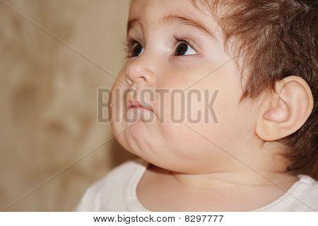 Closeup Photo Of Cute Baby