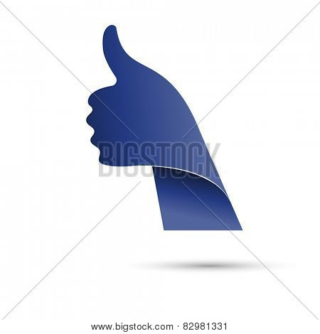 Thumbs up, like icon, vector illustration