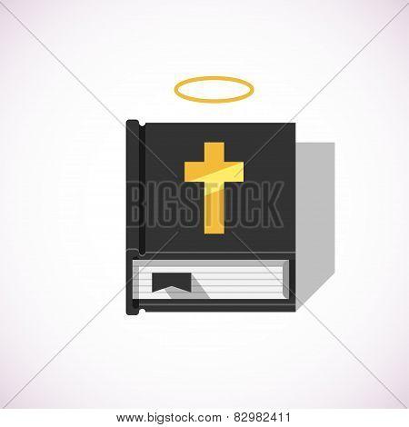 Bible Book With Nimbus
