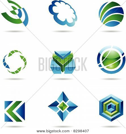 Abstract blue and green Icon Set 20