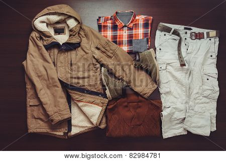 Set Of Male Apparel