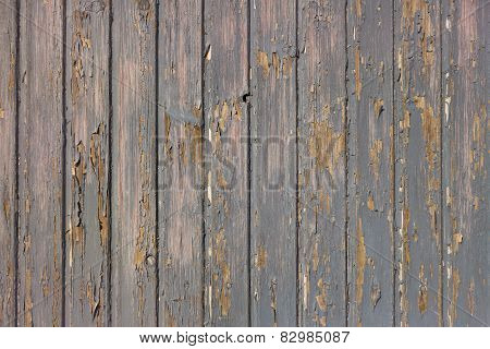 Gray paint peels off wood