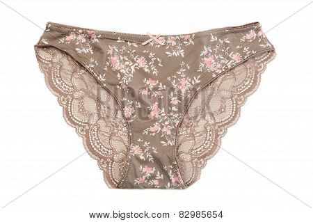 Brown Cotton Panties.