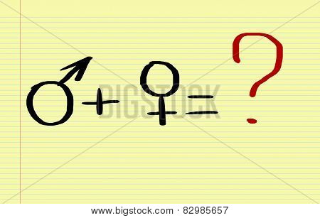 Man And Woman Sign Concept