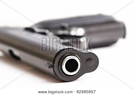 Gun Isolated On A White