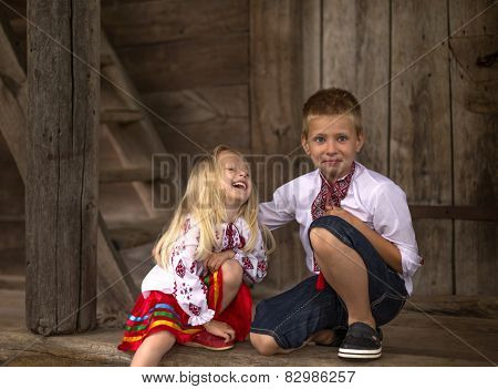 Little ukrainian children - happines