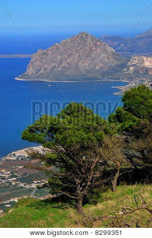 Mount Cofano And Mediteranean Sea, Sicily