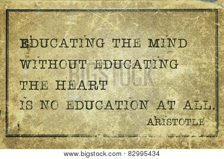 Educating Heart Print