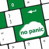 foto of panic  - No panic key on computer keyboard  - JPG