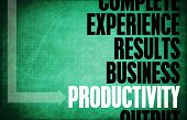 foto of productivity  - Productivity Core Principles as a Concept Abstract - JPG