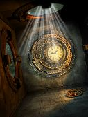 pic of fantasy  - Fantasy scene with steampunk style in the sky - JPG