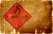flammable liquid sign(warm background) poster