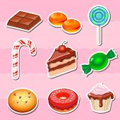 pic of candy cotton  - Set of colorful various candy - JPG